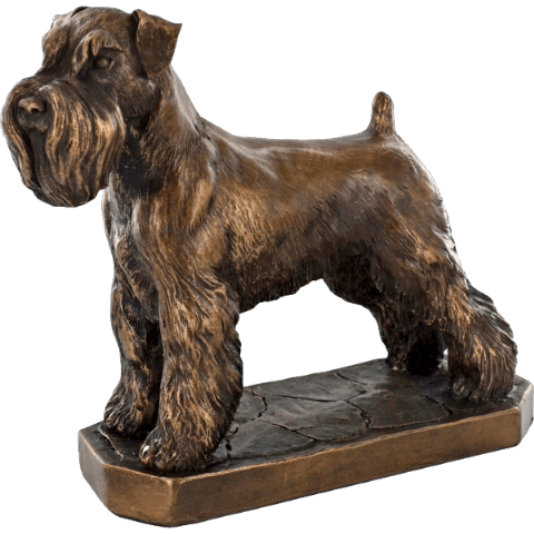 Schnauzer Cold Cast Bronze Sculpture